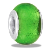 Green Foil Glass Bead