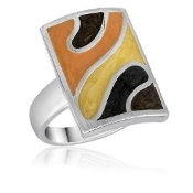 Earthtoned Striped Ring