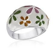 Multi-Colored Flower Ring
