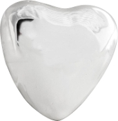 Puffed Heart Bead Silver Plated by Amanda Blu