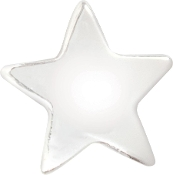 Star Bead Silver Plated Bead by Amanda Blu