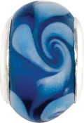 Blue Swirly Bead by Amanda Blu