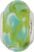 Green and Blue Coastal Foam Bead by Amanda Blu