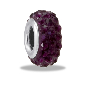 June Slim Pave Bead by DaVinci