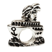 Silver Plate Cruise Ship Bead by Amanda Blu