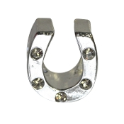 Horseshoe with CZ Bead by Amanda Blu