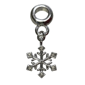 Snowflake Silver Plated Bead by Amanda Blu