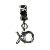 """X"" and ""O"" Heart Dangle Bead By Amanda Blu"
