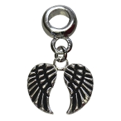 Angel Wings Silver Plate Bead by Amanda Blu
