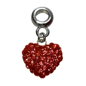 July - Austrian Crystal Double Sided Heart Pave Bead