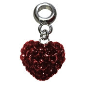January - Austrian Crystal Double Sided Heart Pave Bead
