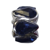 Deep Blue Crystal Teardrop Bead by Amanda Blu