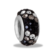 Gray Dimensional Slim Pave Bead by DaVinci