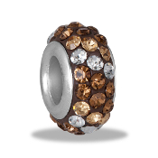Brown Dimensional Pave Bead by DaVinci