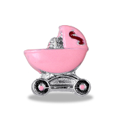 Pink Carriage Charm For Forever In My Heart Lockets