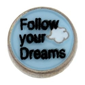 Follow Your Dreams Charm For Lockets