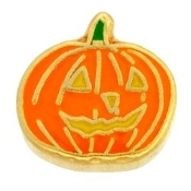 Jack O Lantern Charm For Lockets - TRUNK SALE NO OTHER DISCOUNT