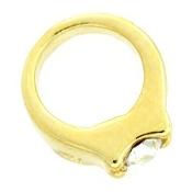 Gold Ring Charm For Lockets