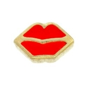 Red Lips Charm For Lockets