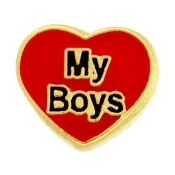 My Boys Heart Charm For Lockets