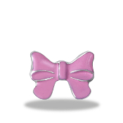 Pink Bow Charm For Lockets