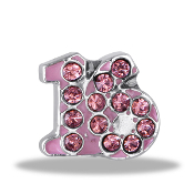 Sweet 16 Crystal Charm For Lockets