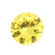 11- November Round Birthstone Charm For Lockets