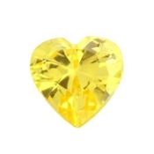 11- November Heart Birthstone Charm For Lockets