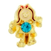 12- December Girl Birthstone Charm For Lockets