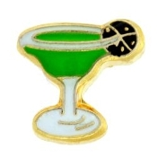 Margarita Glass Charm For Lockets