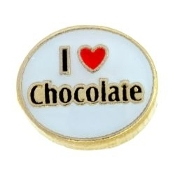 I LOVE CHOCOLATE Charm For Lockets