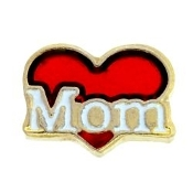 MOM Heart Charm For Lockets