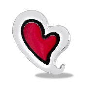Red Heart Charm For Lockets