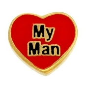 MY MAN Heart Charm For Lockets