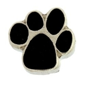 Black Paw Charm For Locket