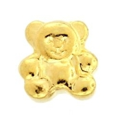 Gold Bear Charm For Lockets