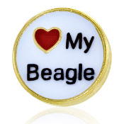 LOVE MY BEAGLE Charm TRUNK SALE, NO FURTHER DISCOUNT
