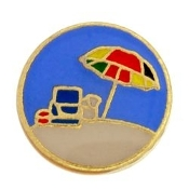 Beach Scene Charm For Lockets