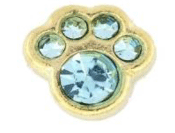 3- March Paw (Light Blue Crystal) Charm For Lockets