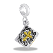 Bible With Gold Cross Bead by DaVinci