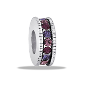 Slim Purple Crystal Wheel Bead by DaVinci