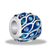 Scalloped Blues Decorative Bead by DaVinci