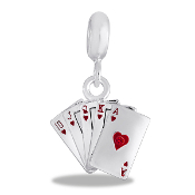 Deck of Cards Dangle Bead by DaVinci