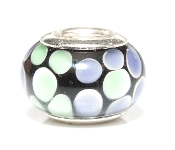 Plum Mint Pebbles Prima Glass Bead by Amanda Blu®