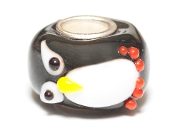 Round Penguin Onlay Prima Glass Bead by Amanda Blu®