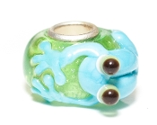 Blue Frog Onlay Prima Glass Bead by Amanda Blu®