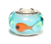 Gold Fish Prima Glass Bead by Amanda Blu®