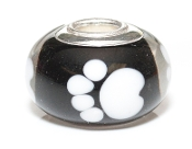 White Paws Prima Glass Bead by Amanda Blu®