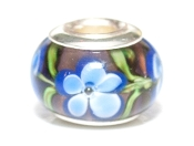 Sky Blue Wildflowers Prima Glass Bead by Amanda Blu®