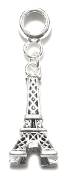 Eiffel Tower (Paris) Silver Plate Dangle by Amanda Blu®
